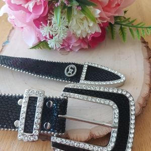 Christine Alexander Swarovski Crystal belt